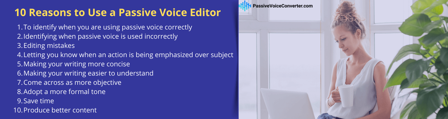 how to use passive voice editor