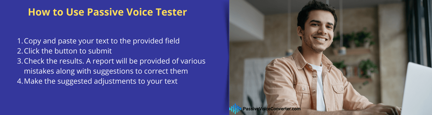 how to use passive voice tester